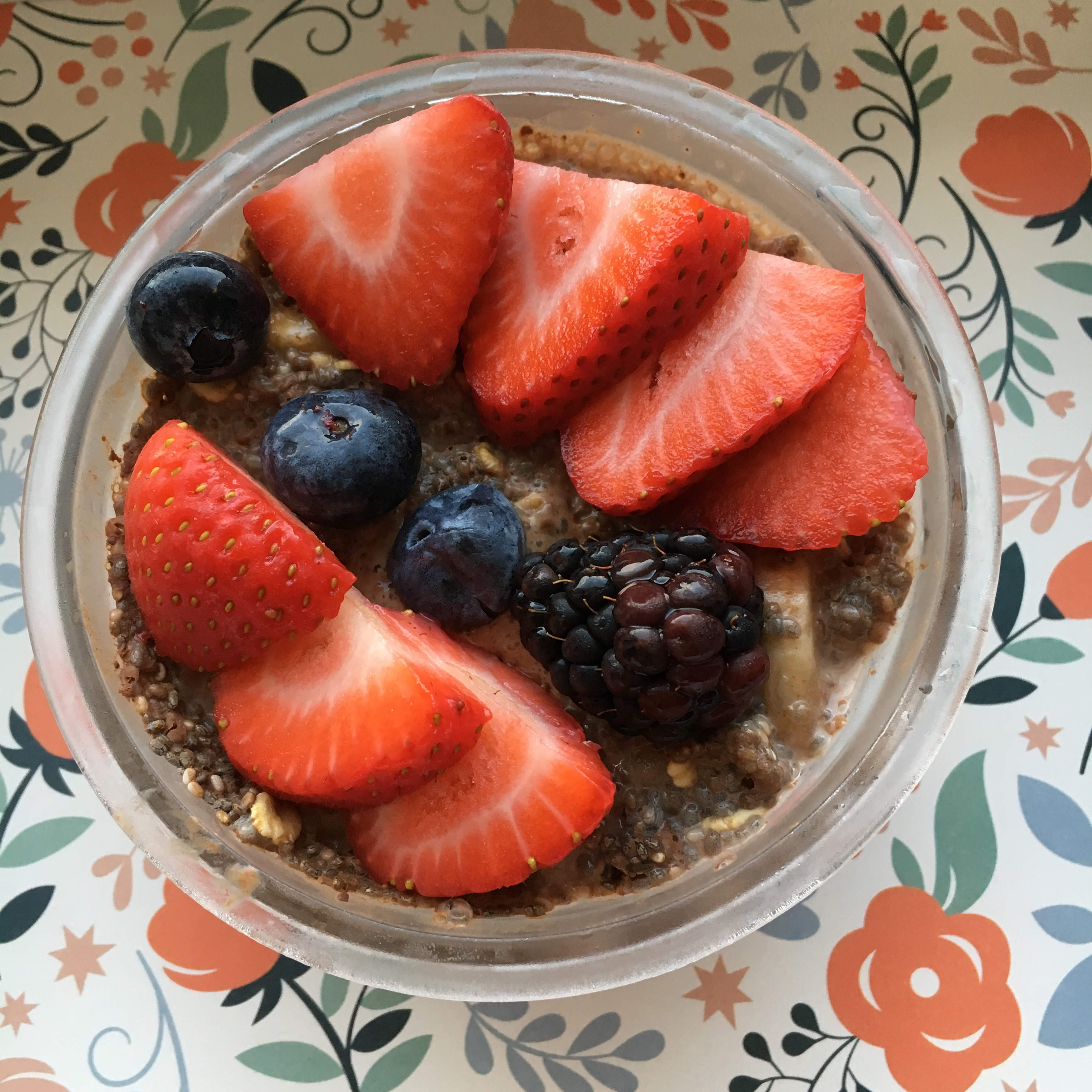 college healthy breakfast chocolate chia oat pudding