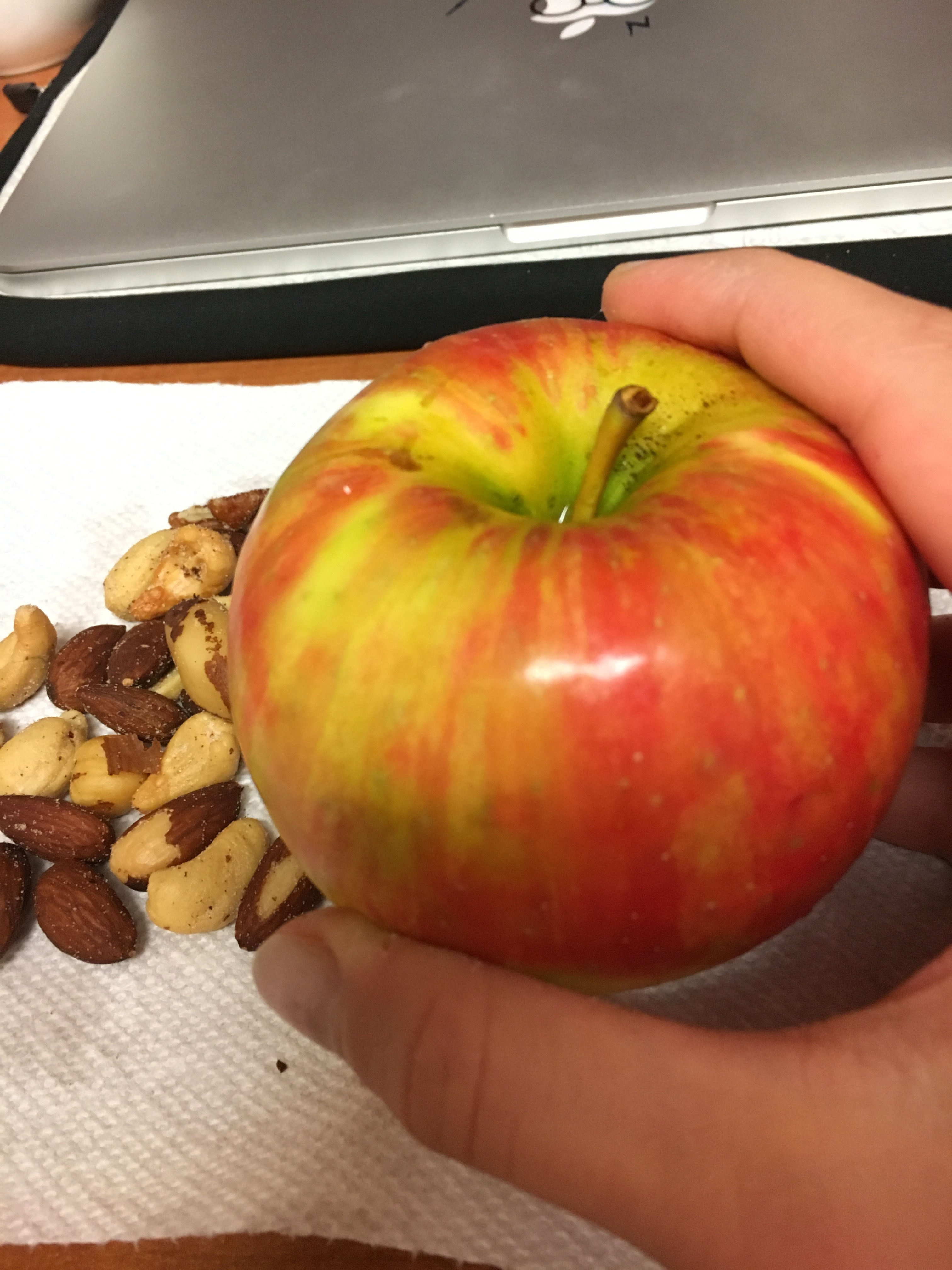 what i ate wednesday apple nuts
