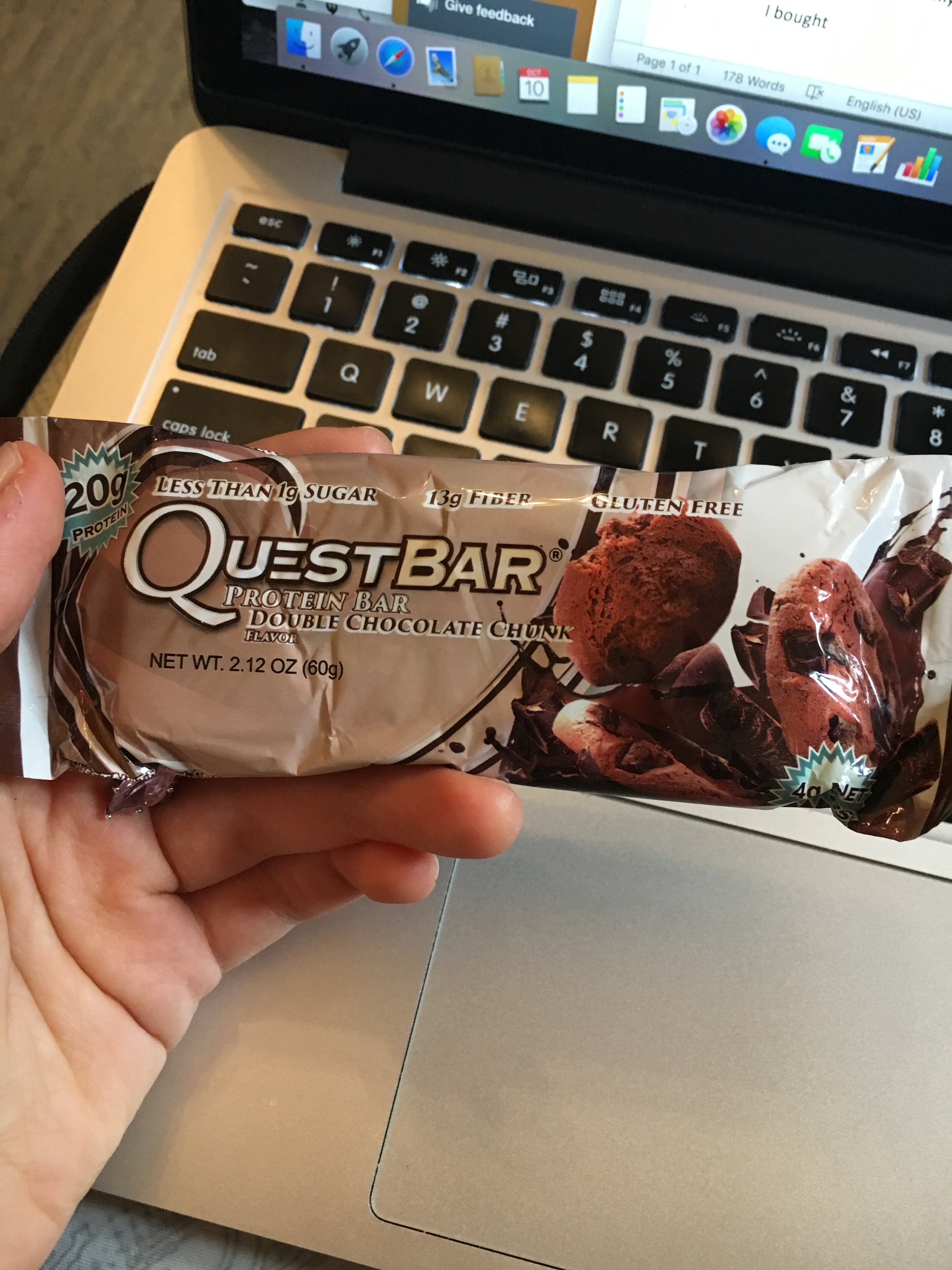 what i ate wednesday quest bar