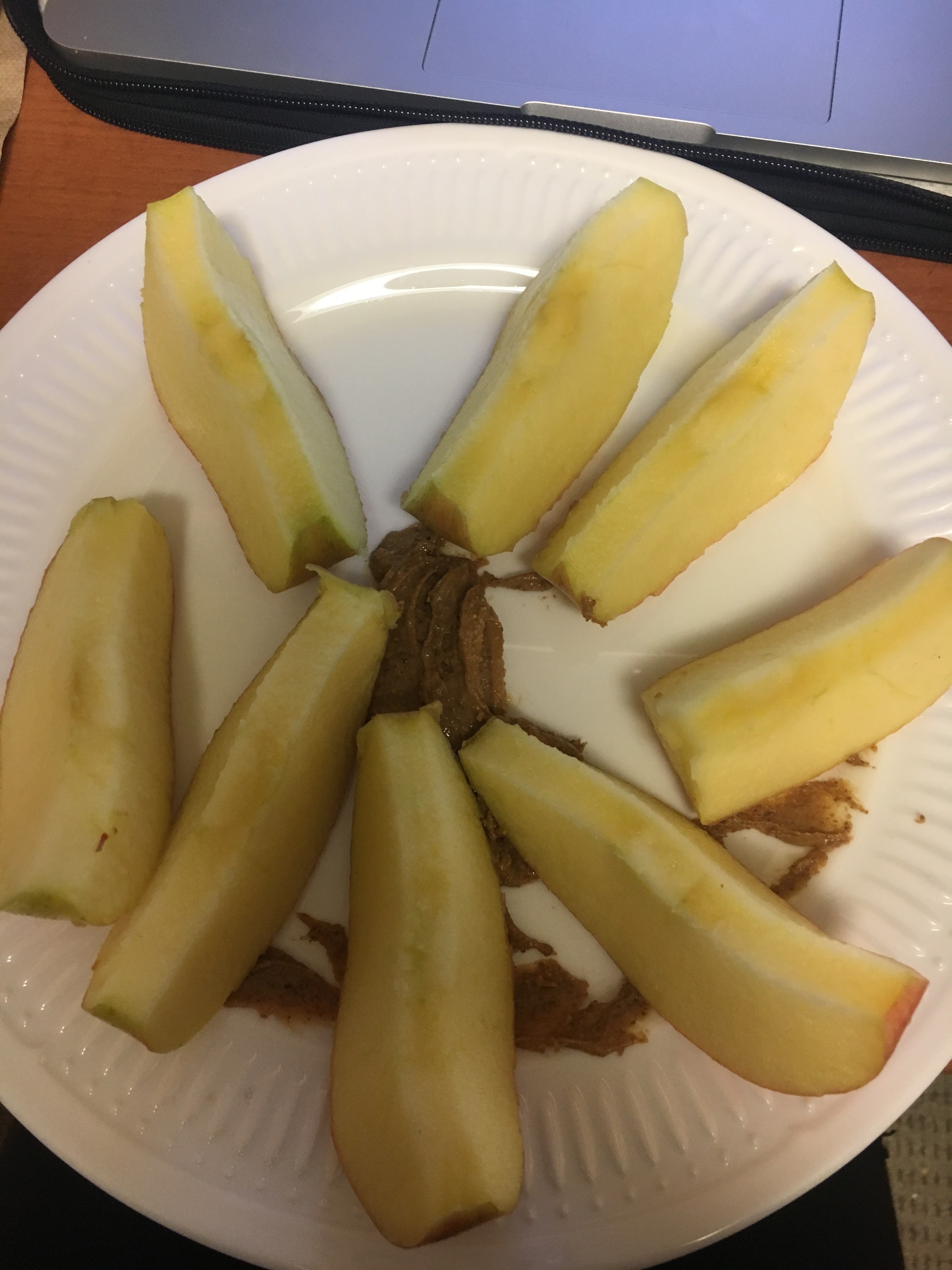 what i ate wednesday apple with almond butter