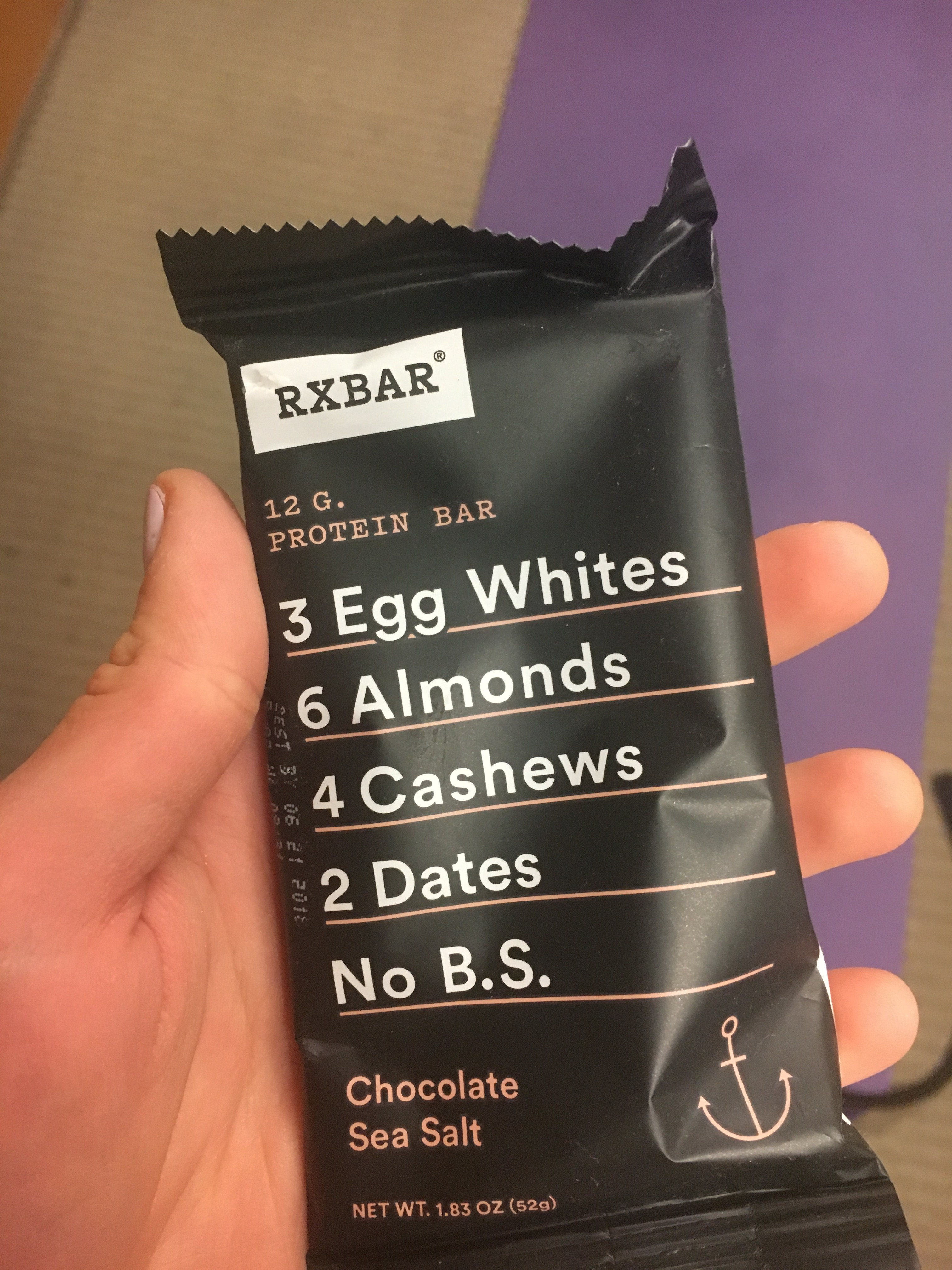 what i ate wednesday rx bar