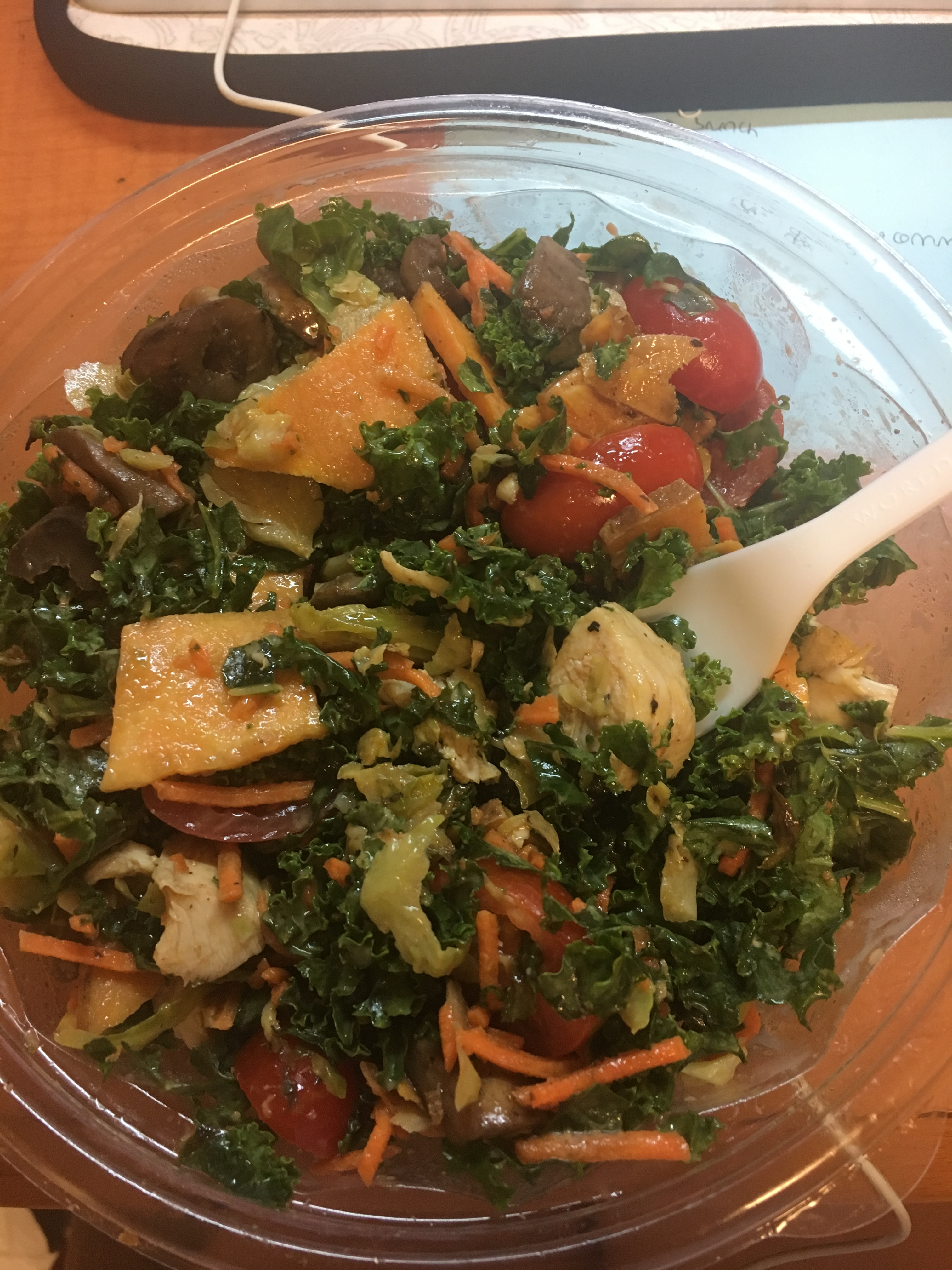 what i ate wednesday salad