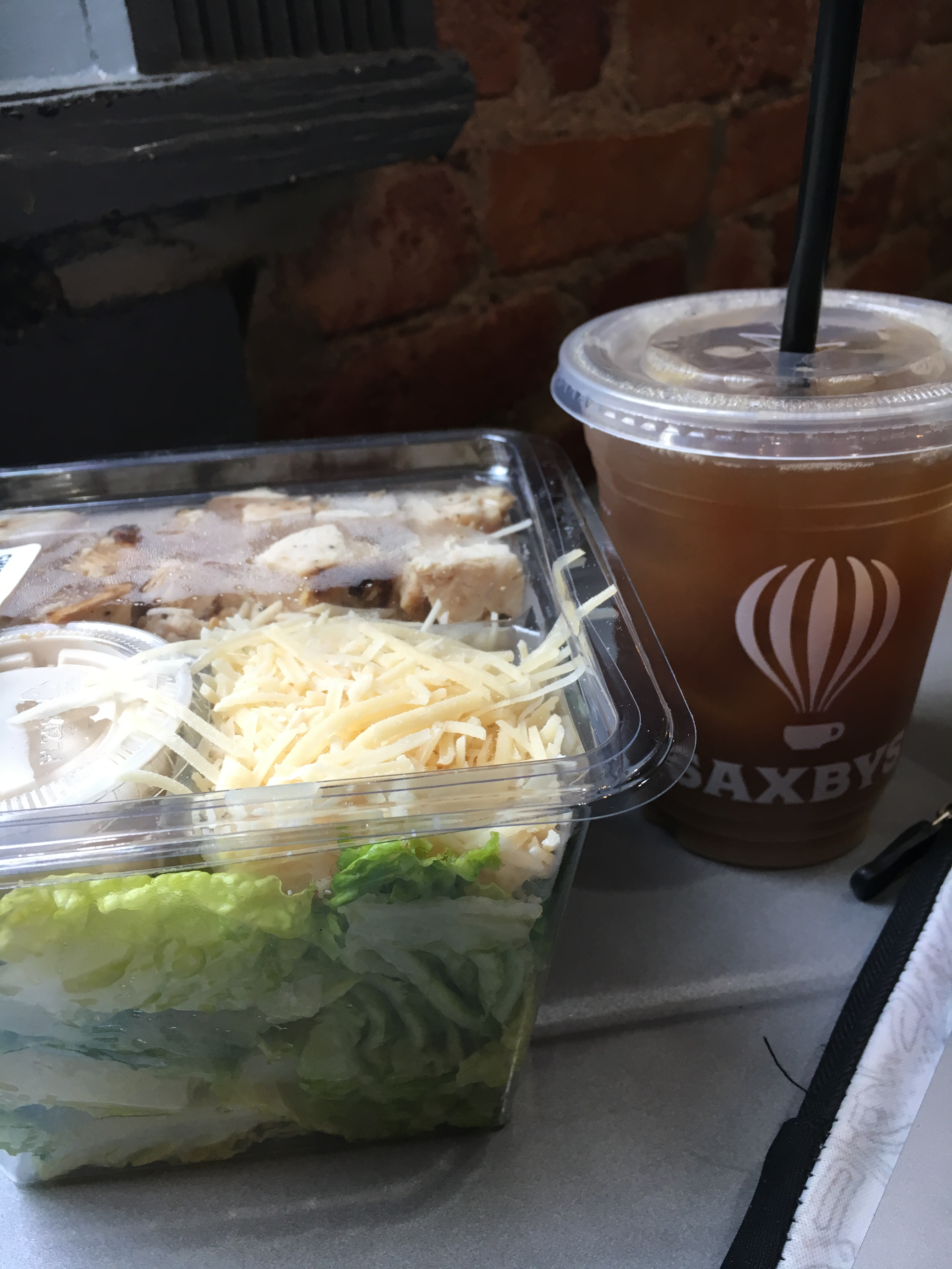 what i ate wednesday salad coffee